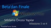 Beta'dan Finale Windows Vista (Longhorn): Sıfırlama Öncesi Yapılar- M3, M4