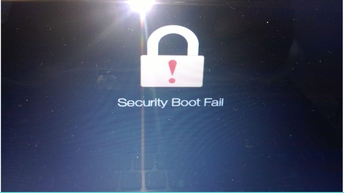 Security boot fail что делать