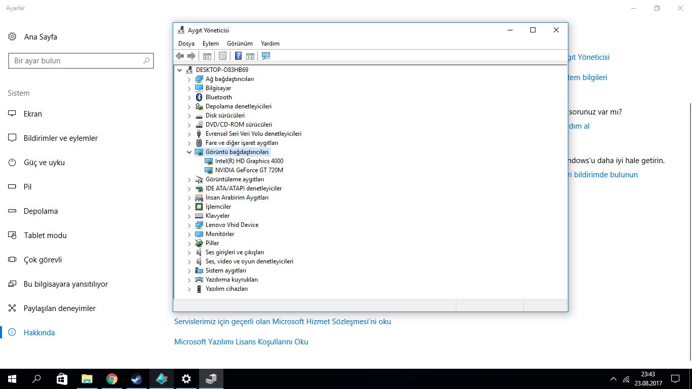 NVIDIA GeForce GT 720M. NVIDIA GeForce GT 720M ekran kartı
