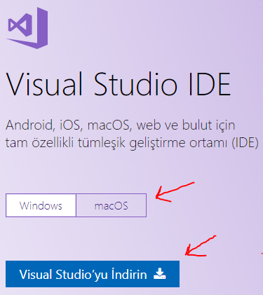 C# - Visual Studio Windows Kurulumu