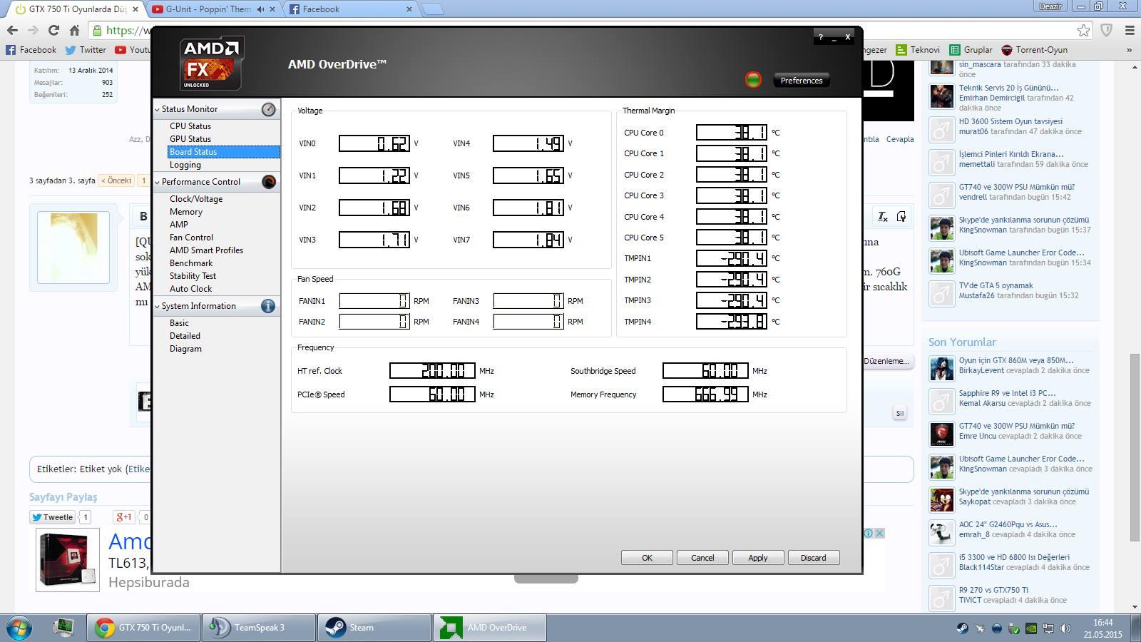 AMD OverDrive Fan Ayarları - Technopat Sosyal