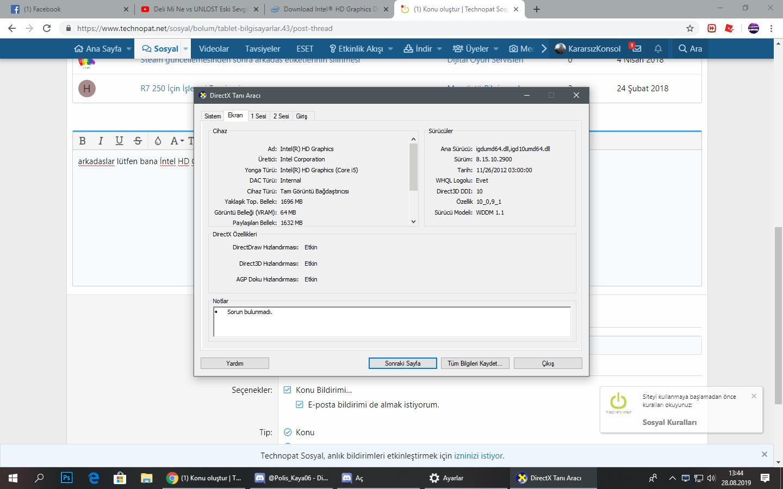 Intel HD Graphics Sürücü Yükleme