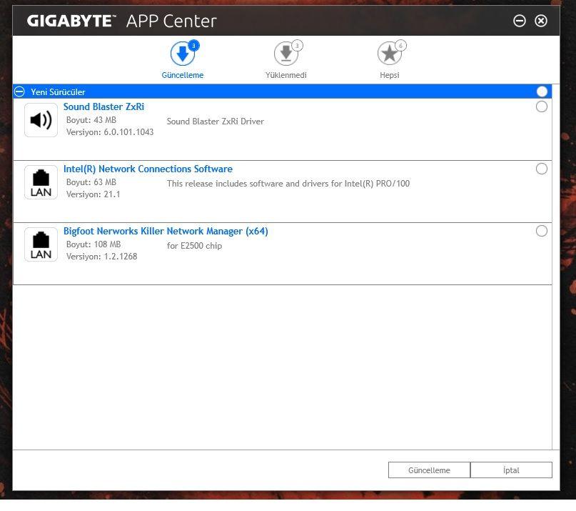 Gigabyte App Center, Network Manager Hatası - Technopat Sosyal