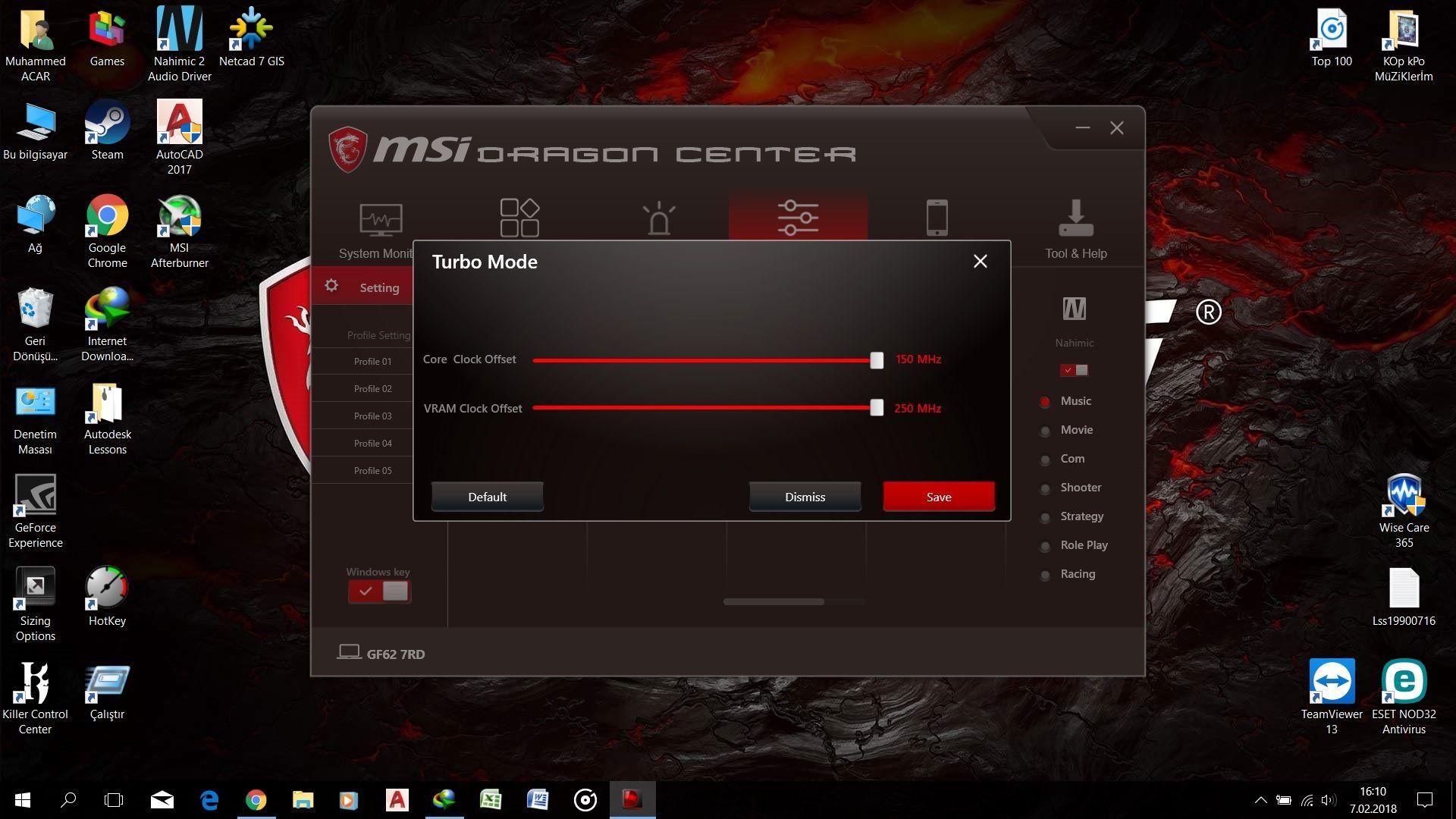 MSI Dragon Center Üzerinden Overclock Yapma - Technopat Sosyal