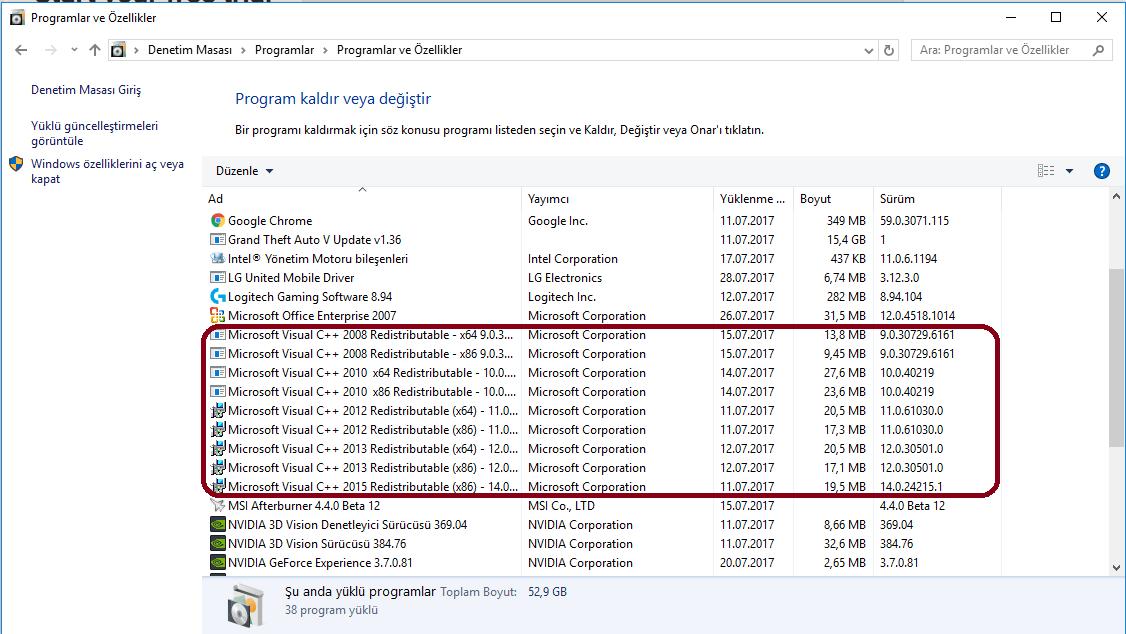 Windows 10 oyunlarda