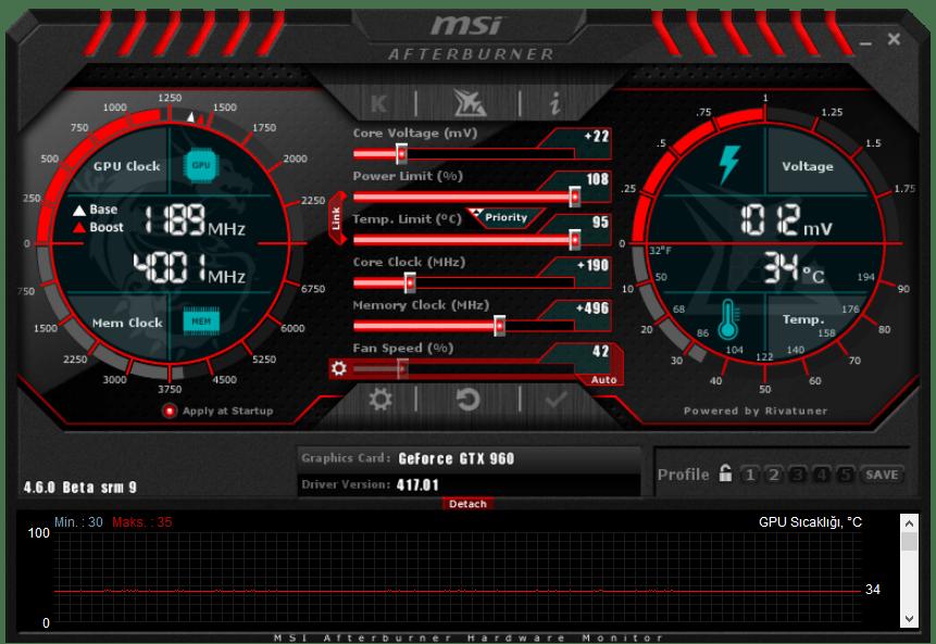 MSI Afterburner indir Download 4.6.2