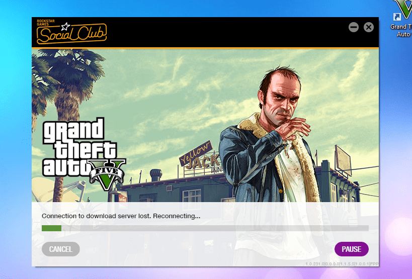 gta 5 connection to download server lost