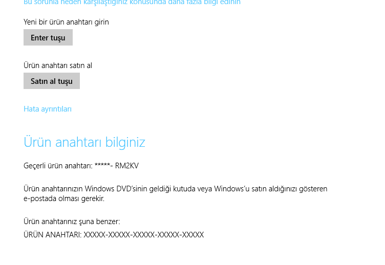 windows 8.1 ürün anahtarı nasıl bulunur