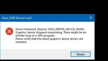 D3d Device Lost Hung