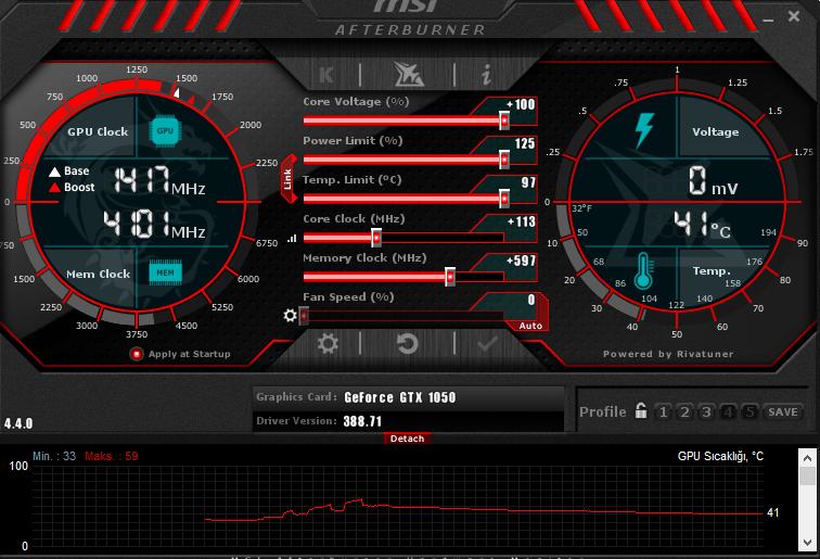 MSI GTX 1050 Gaming X 2G overclock sonuçları - Technopat Sosyal