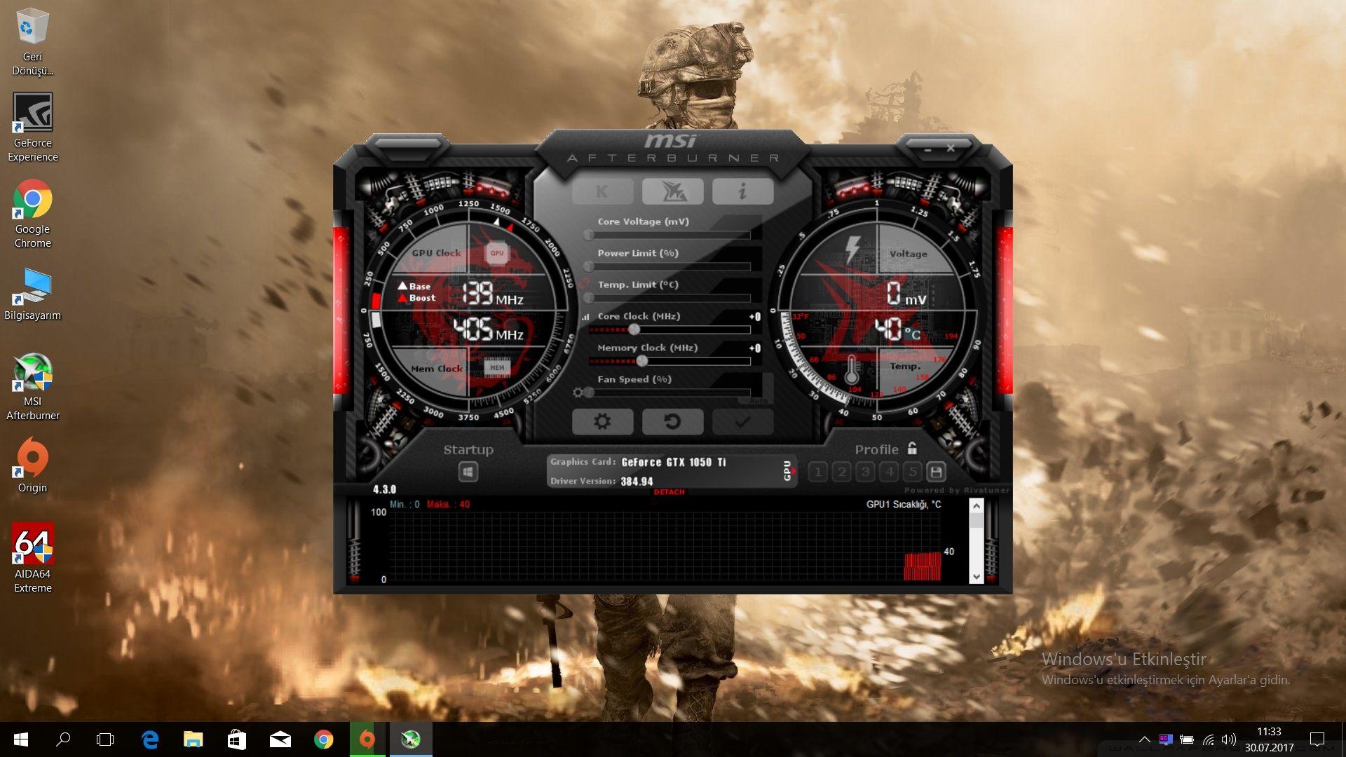 Ekran kartının normal sıcaklığı