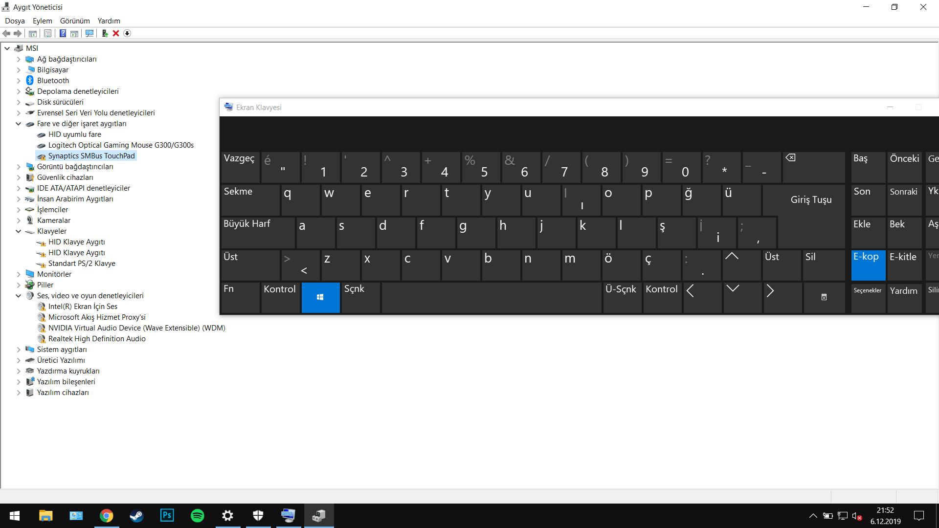 MSI GL62M 7RDX Klavye, Fare ve Hoparlör Bozuldu