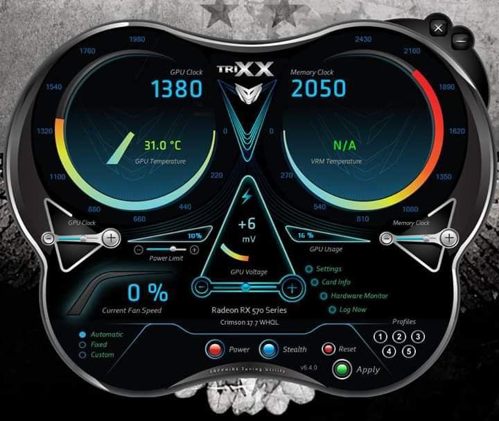 RX 570 En İyi Overclock Değerleri - Technopat Sosyal