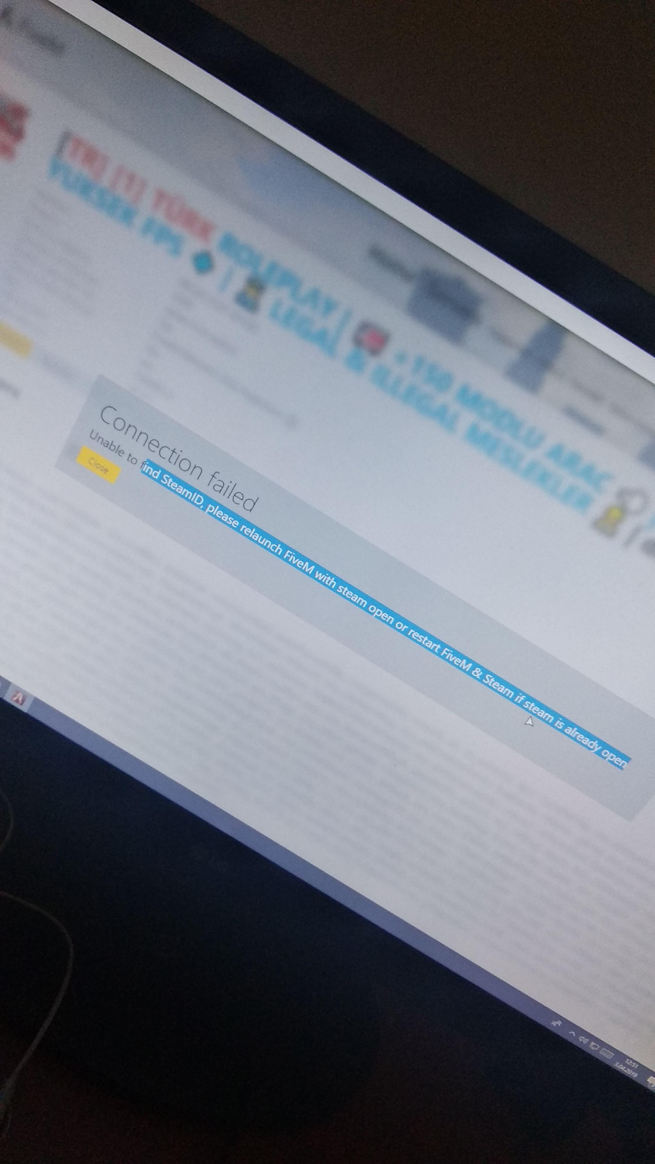 GTA V FiveM unable to find SteamID hatası - Technopat Sosyal