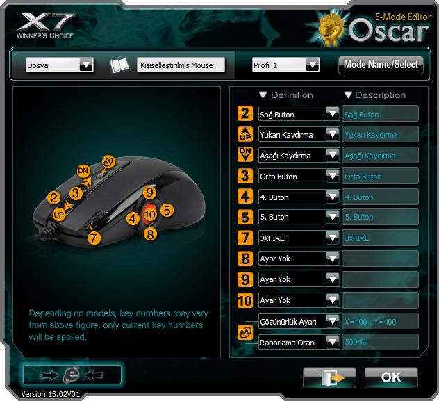 X7 Oscar Editor (free) download Windows version