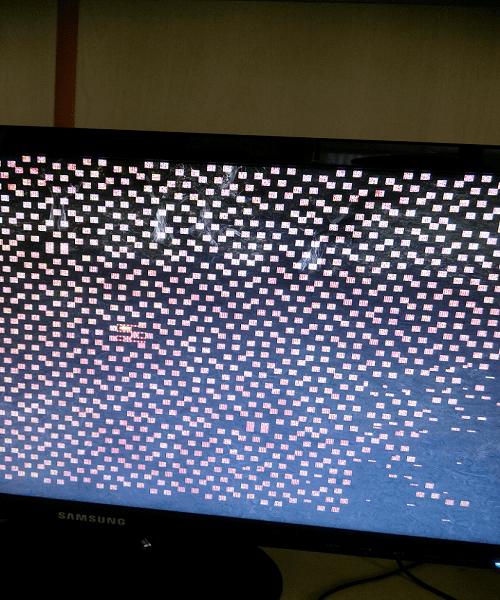 Ekran kare kare oluyor