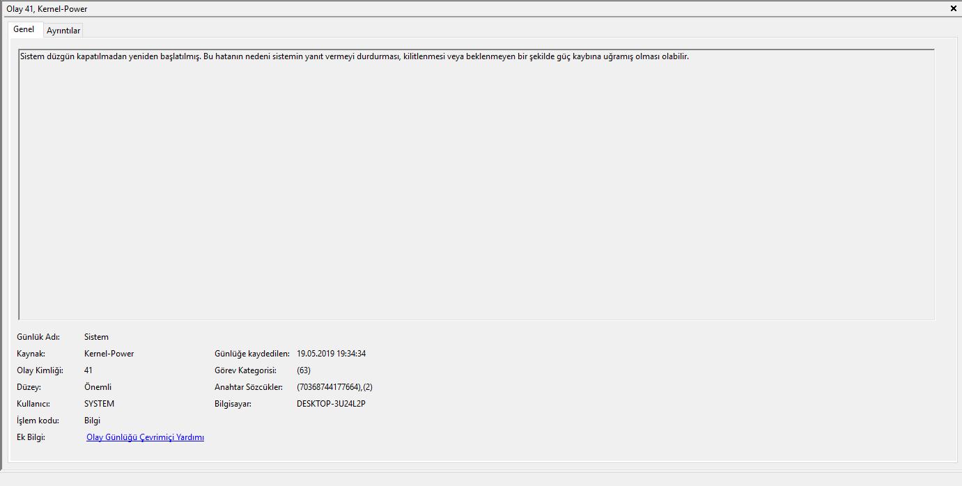 Windows 10 Kernel-Power 41 63 Hatası - Technopat Sosyal