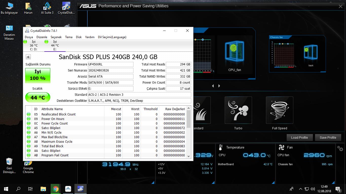 SanDisk SSD PLUS 240 GB 45 derece normal mi? - Technopat Sosyal