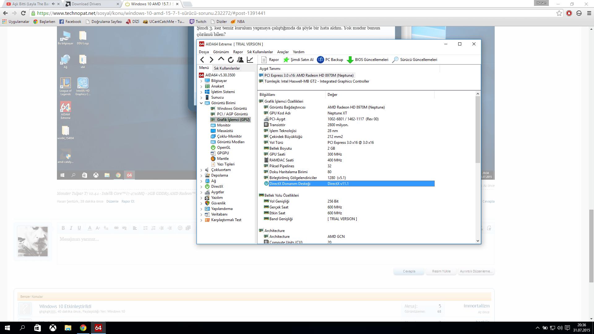Windows 7ye sürücüleri güncelleme