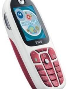 Motorola E375 Özellikleri