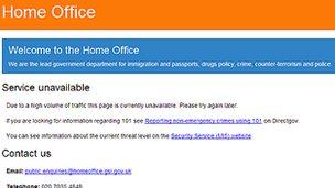 İngiltere İçişleri Bakanlığı Sitesi