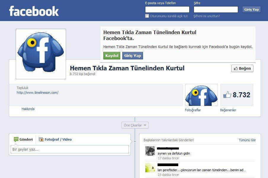 Timelineson Facebook Spam