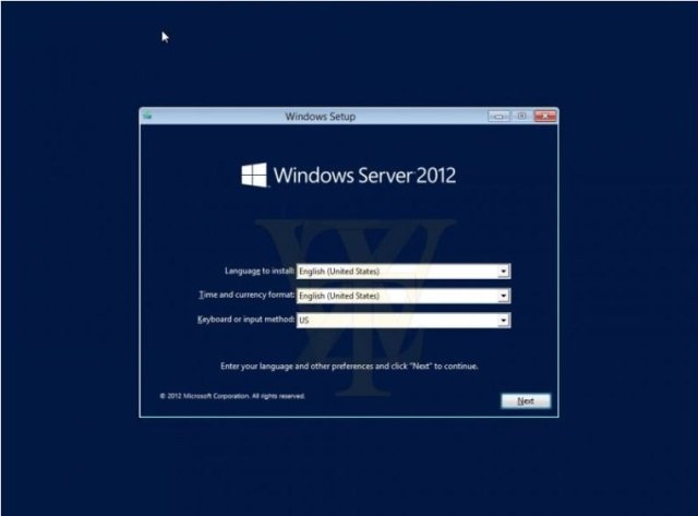 windows server 2012 rtm