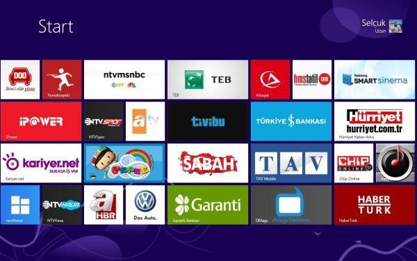 Windows 8 Mağaza Türkiye