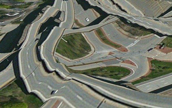 Apple Maps'in gösterdiği bir otoyol kavşağı