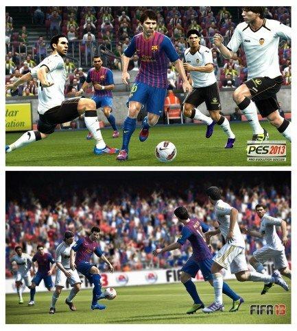 Messi'nin FIFA ve PES oyunlarda ki karşılaştırması.