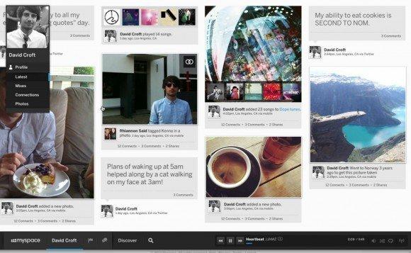 Myspace yeni görünümü ile beğeni topluyor.