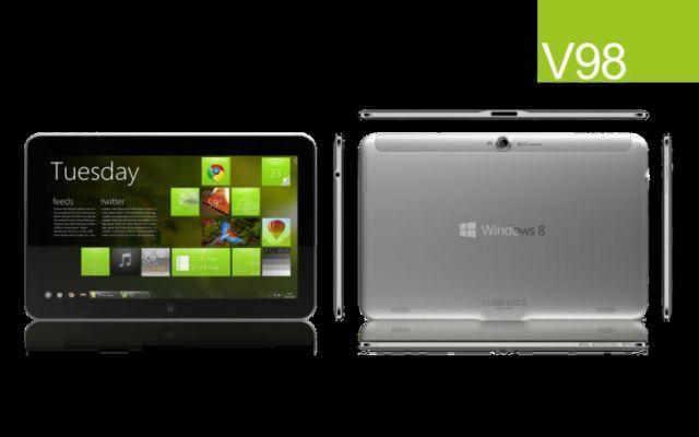 ZTE Firması V98 modeli ile Windows 8 işletim sistemli tabletlerin arasına girecek.