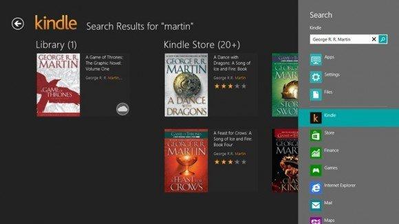 Amazon.com, Windows 8 işletim sistemine uyumlu Kindle uygulamasını markete koydu.