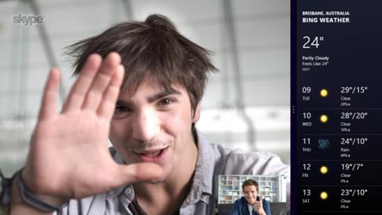 Windows 8 işletim sisteminin çıkmasıyla birlikte Microsoft tarafından yenilenen uygulamalardan biri de Skype olacak.