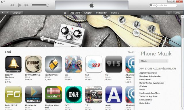 iTunes 11 yenilenmiş arayüz ile rahat bir kullanılabilirlik sunuyor.