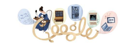10 Aralık'a özel Ada Lovelace Google Doodle'ı