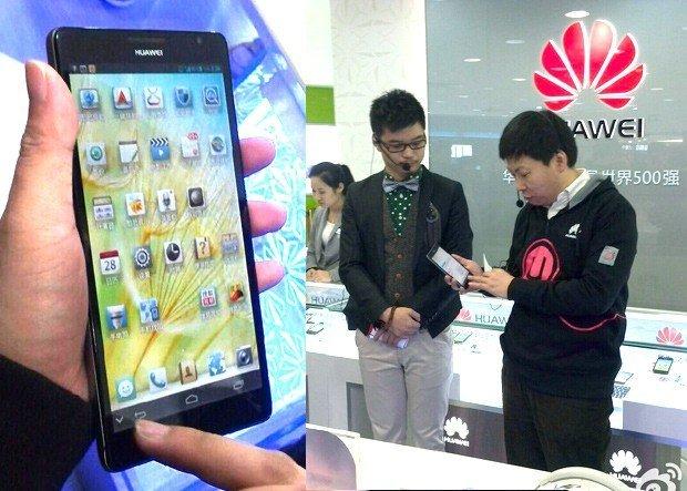 Huawei Ascend Mate tam anlamıyla kocaman bir telefon.