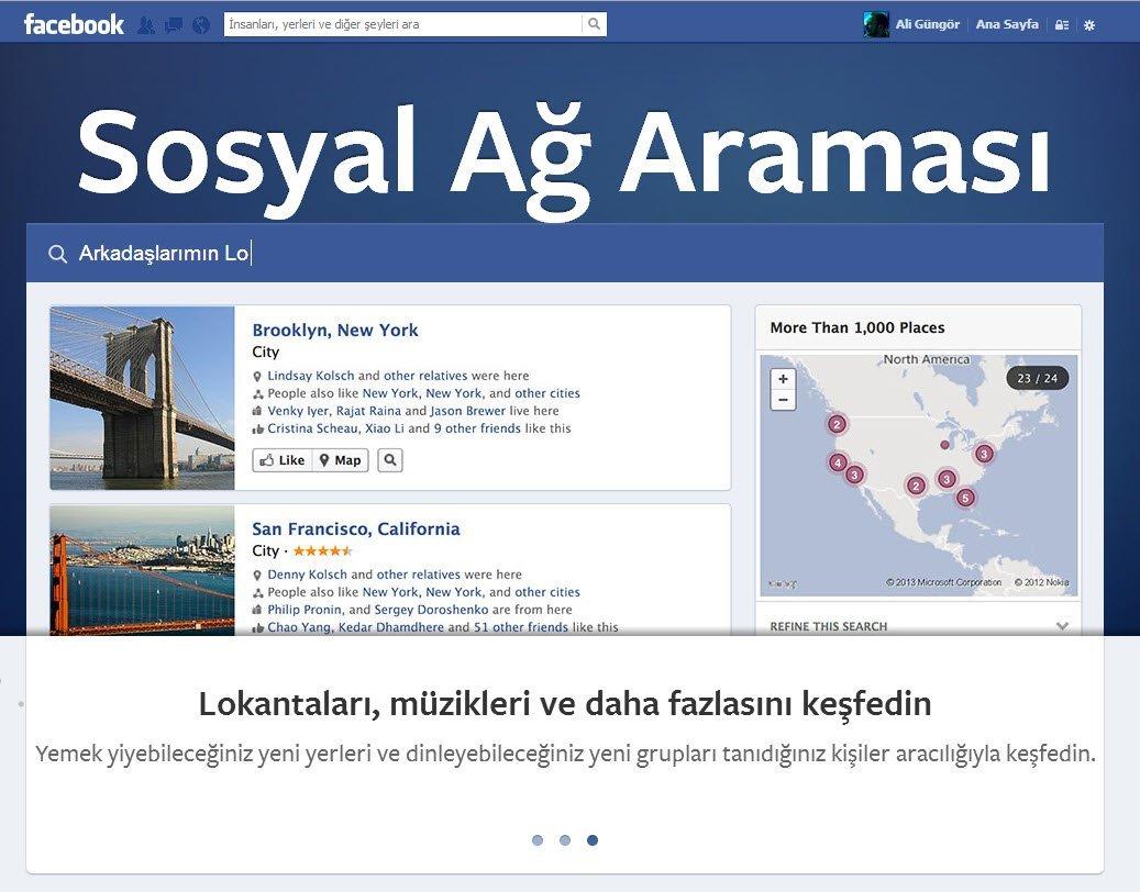 Sosyal ağ araması: Facebook Graph Search