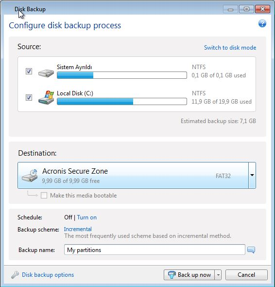 Acronis Disk Backup