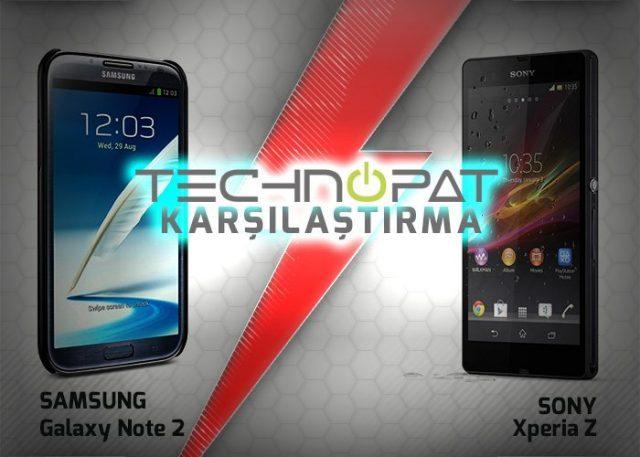 Sony Xperia Z vs Samsung Galaxy Note 2 Karşılaştırma