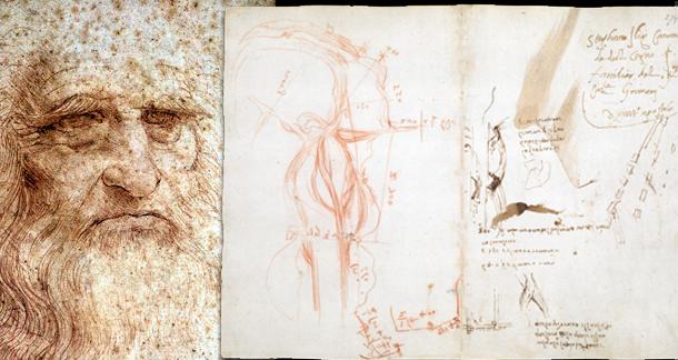 Leonardo da Vinci'nin defterlerine ücretsiz olarak ulaşılabiliyor.