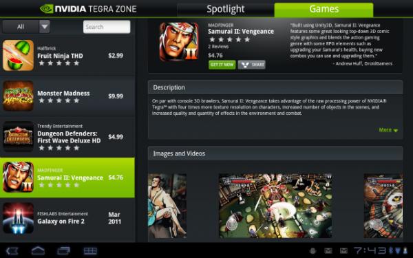 Nvidia, TegraZone platformu sayesinde takipçilerine özel oyunları paylaşma imkanı buluyor.