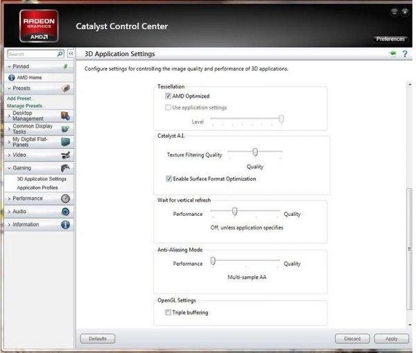 AMD HD3D Ayarı