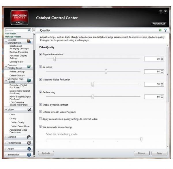 AMD Video Kalite Ayarı
