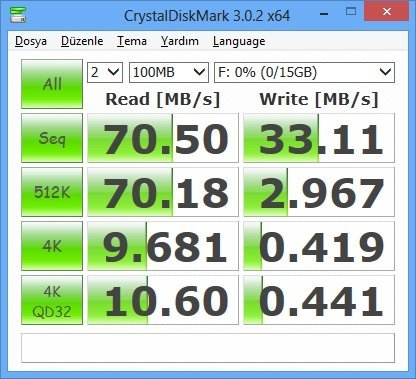 CrystalDiskmark Kingston Rubber 3.0