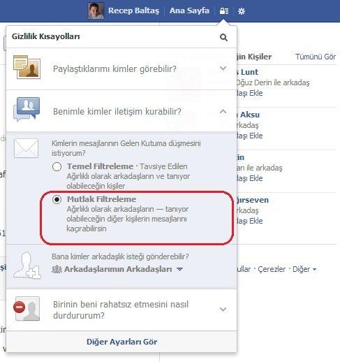 Facebook Mesaj Filtreleme