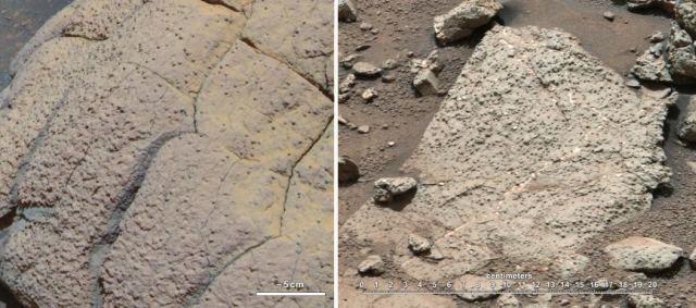 Wopmay ve Sheepbed adı verilen kayalar, Mars yüzeyindeki yaşama ait önemli bilgiler içeriyor.