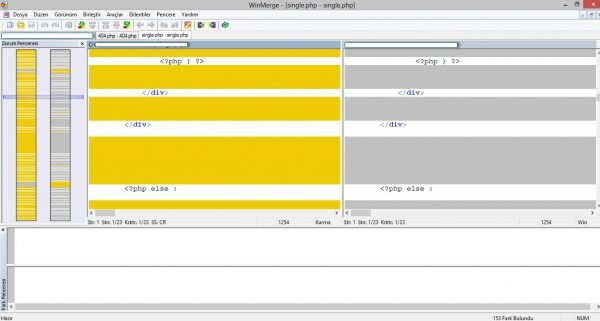 WinMerge: Dosya birleştirme ve kıyaslama yardımcı uygulaması