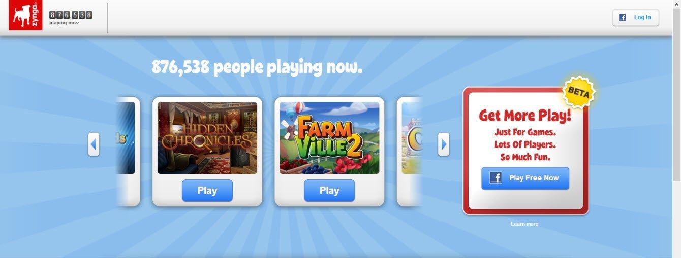 Yeni Zynga.com'da Facebook hesabı harici bir hesap oluşturma seçeneği açılıyor