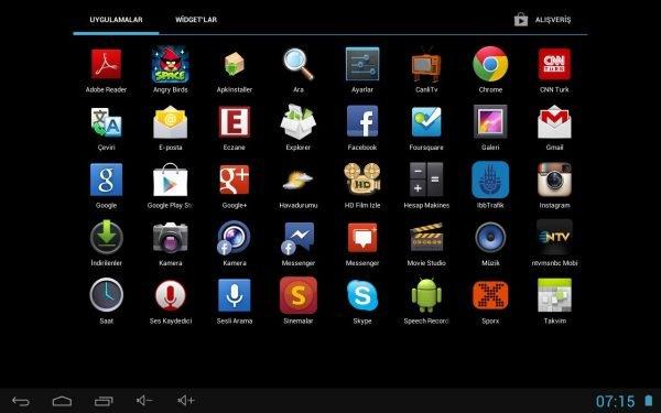 Ultra Tab Android Uygulamalar